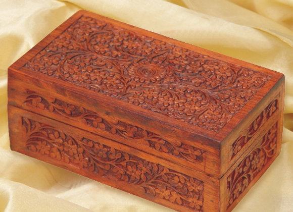 Carved Darjeeling Tea Box