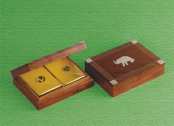 Rosewood Elephant Tea Box 2 in 1