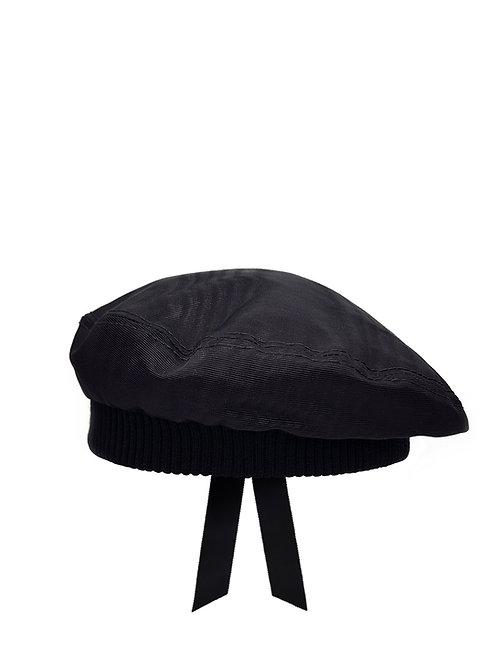 Black moiré beret
