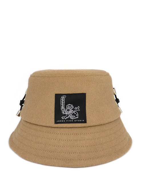 Camel wool bucket hat
