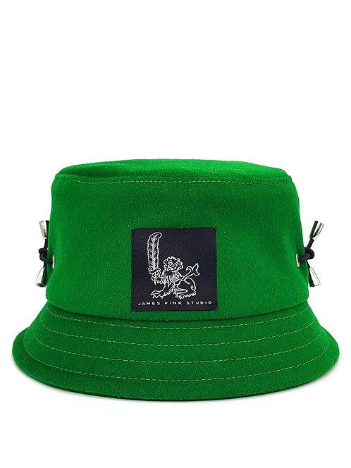 Green wool bucket hat