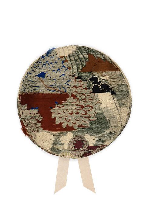 Reverse Japanese silk brocade beret