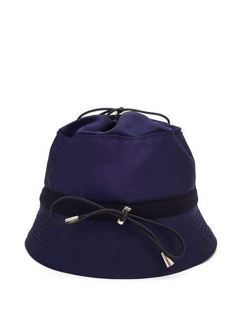 Navy satin bungee bucket