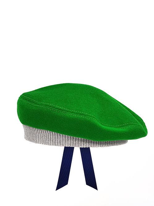 Green wool beret