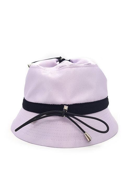 Lilac satin bungee bucket