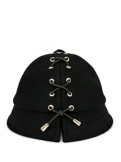 Laced wool bucket hat