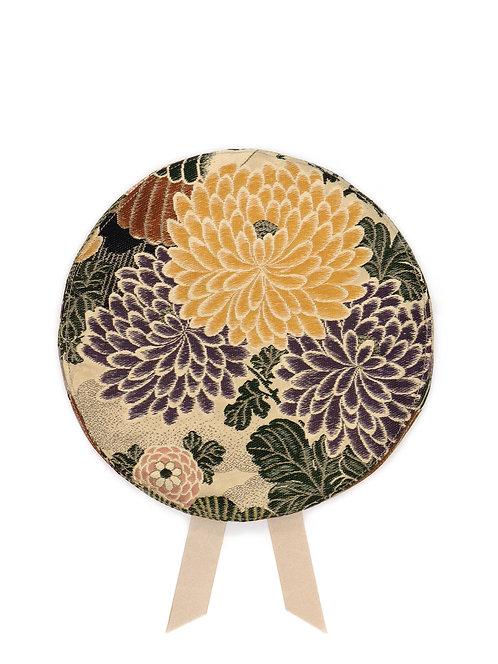 Japanese silk brocade beret