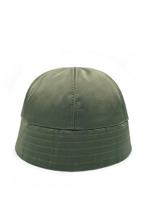 Khaki satin bucket hat