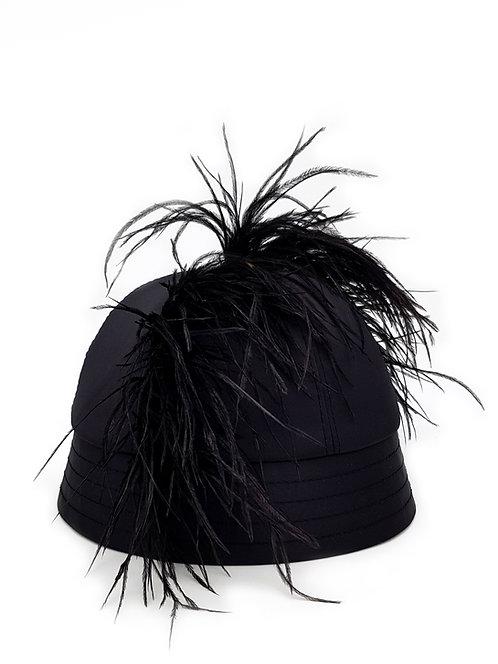 Ostrich mohawk bucket hat