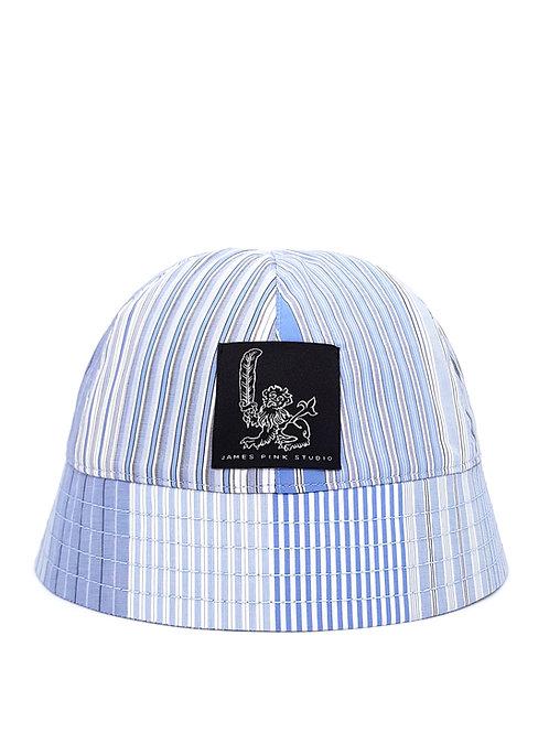 Blue striped bucket hat