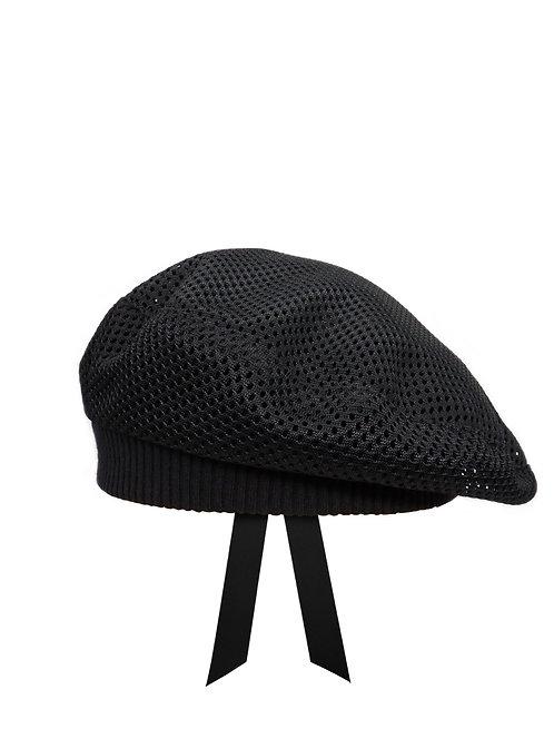 Black mesh beret