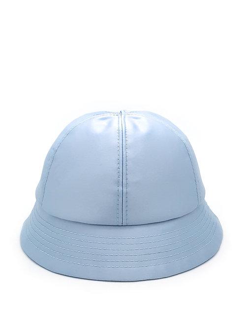 Baby blue satin bucket hat