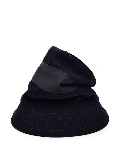 Panelled slouchy bucket hat