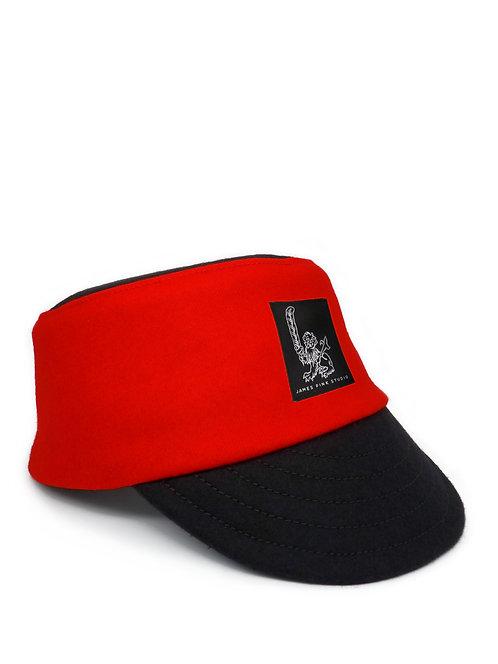 Scarlet wool cap