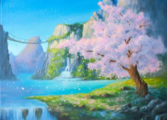 """""""Весна в горах"""", холст 40х50 см"""