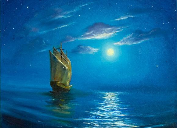 "Картина маслом ""Лунные паруса"""