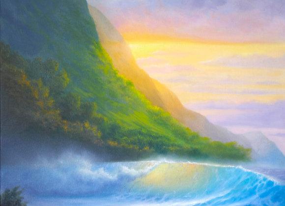 """""""Магия океана"""", холст 50х70 см"""