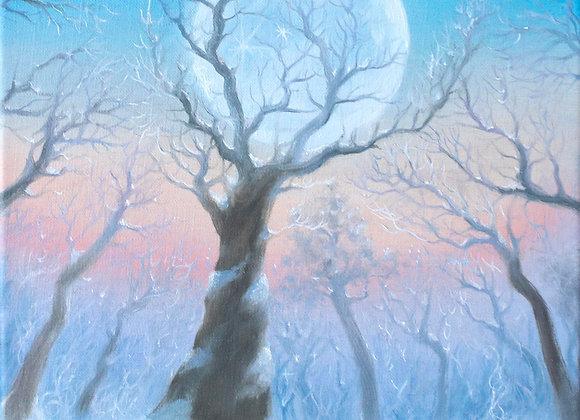 """Магия зимнего леса"", холст 25х35 см"