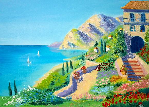 "Картина маслом ""Средиземноморское побережье"""