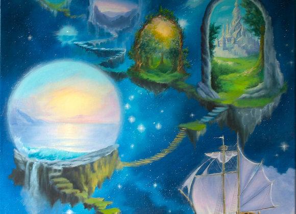 "Авторская картина ""Мои миры"", холст 60х80 см"