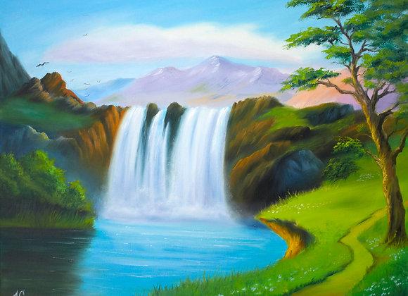 "Картина маслом ""Водопад"""