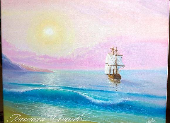 """Картина маслом """"К дальним берегам"""""""