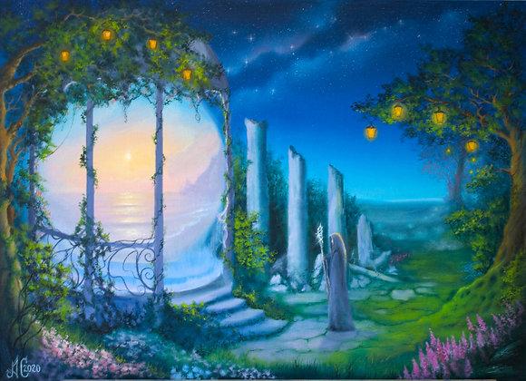 """Авторская картина """"Магическое место"""", холст 50х70 см"""