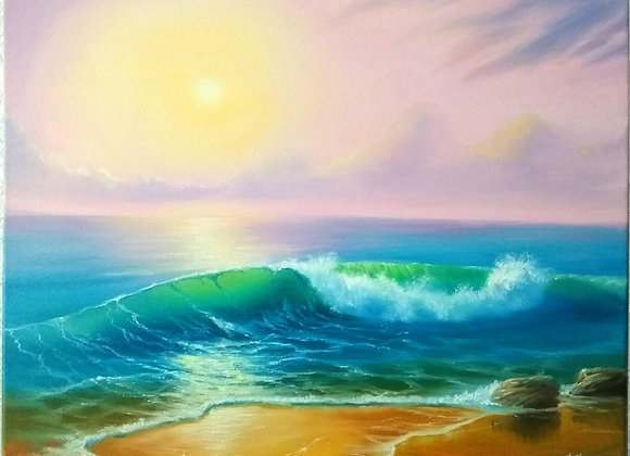"Картина маслом ""Песнь моря"", 40х50"