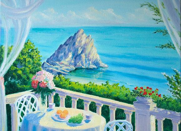 "Картина маслом ""Романтическое утро"""