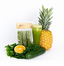 Manzana Verde, Pepino, Piña, Apio, Perejil y Naranja