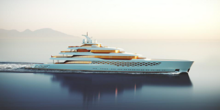 Freddie Mercury Meets Forrest Gump On This Fantastical 109-Meter Feadship Concept Superyacht