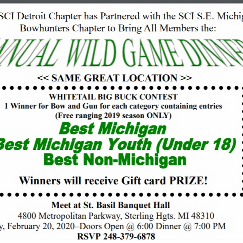 Annual Wild Game Dinner