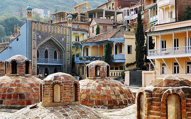 Грузия Серные бани Тбилиси
