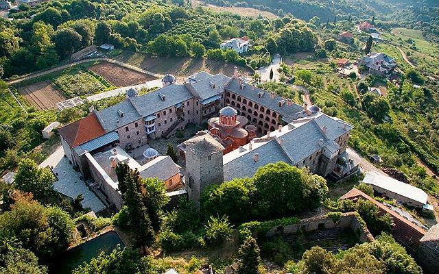 Греция Афон Монастырь Кутлумуш