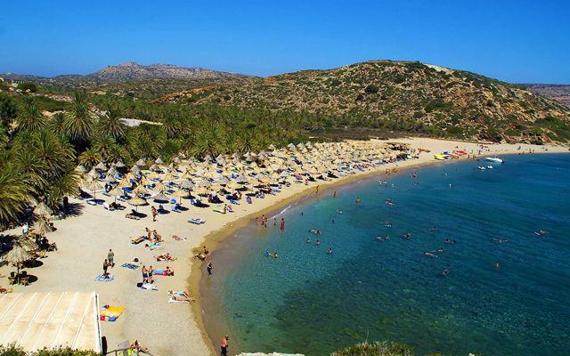 Греция Крит Пляж Вай область Лассити