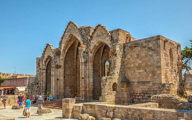 Греция Родос Церковь Богородицы Бурго