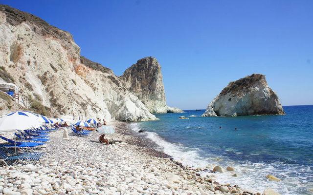 Греция Санторини Белый пляж Акротири