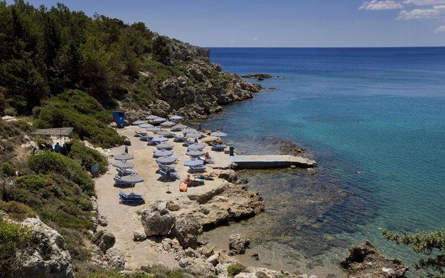 Греция Родос Пляж Ладико