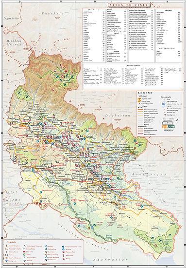 Карты Грузии, Кахетия