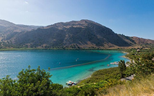 Греция Крит Озеро Курна
