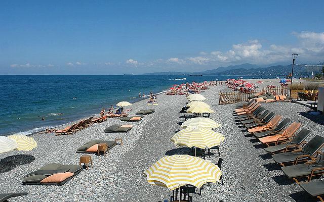 Грузия Пляж Батуми