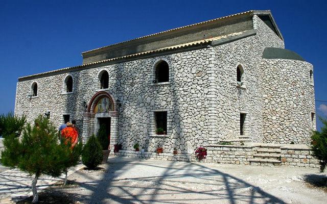 Греция Корфу Монастырь на горе Пантократор