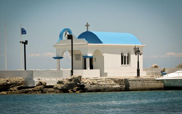 Греция Родос Церковь  Всех Апостолов в бухте Фалираки