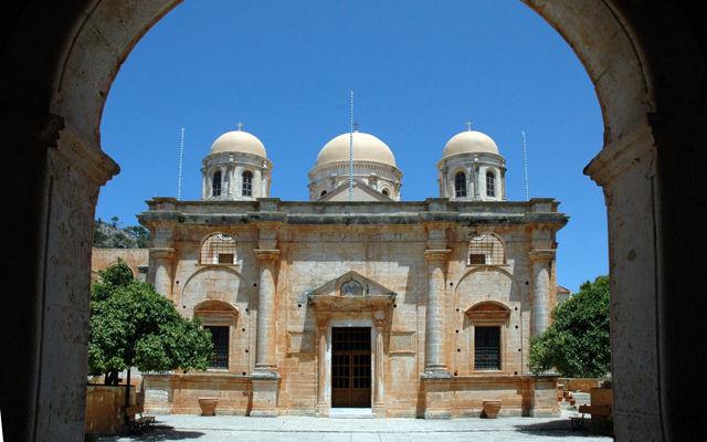 Греция Крит Монастырь Святой Троицы Цагаролон