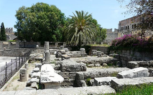 Греция Родос Руины Храма Афродиты