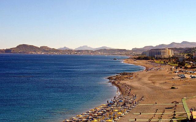 Греция Родос Пляж Ялиссос