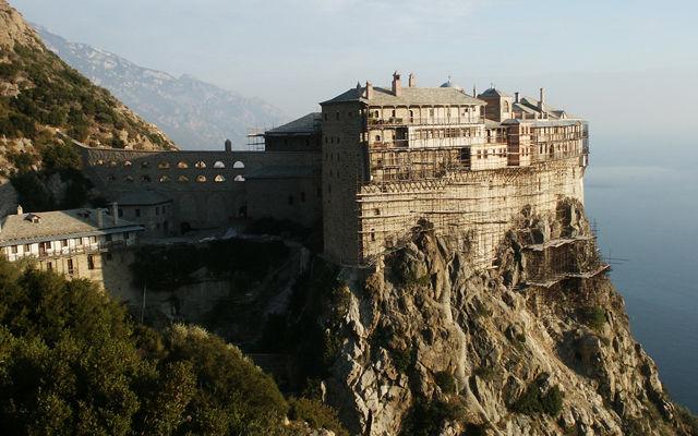 Греция Афон Монастырь Симонопетра