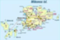 Карта Миконоса