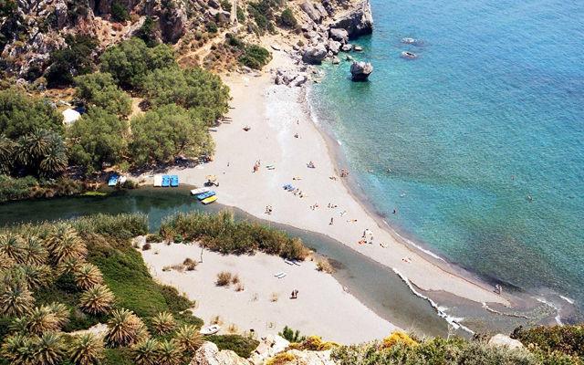 Греция Крит Пальмовый пляж Превели область Ретимно