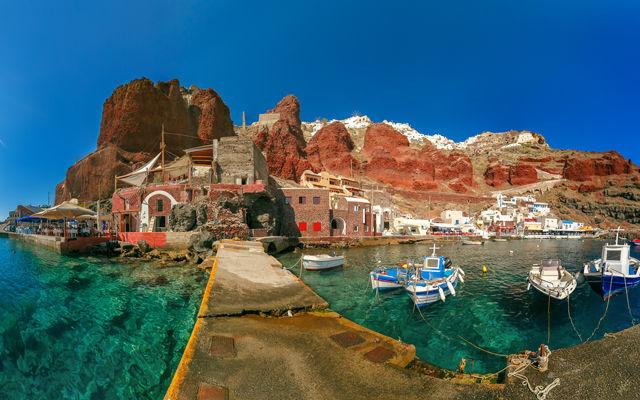 Греция Санторини Старый порт Ии